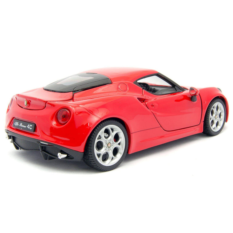 Alfa Romeo 4C Diecast Model Car - 1:24 Scale-Welly-Diecast Model Centre