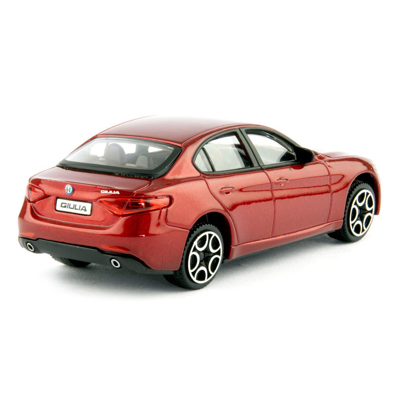 Alfa Romeo Giulia Diecast Toy Car 2016 red - 1:43 Scale-Bburago-Diecast Model Centre