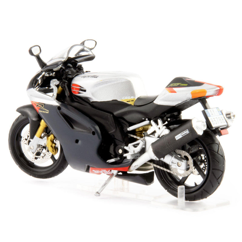 Aprilia RSV 1000R Diecast Model Motorcycle silver - 1:24 Scale-Atlas Editions-Diecast Model Centre