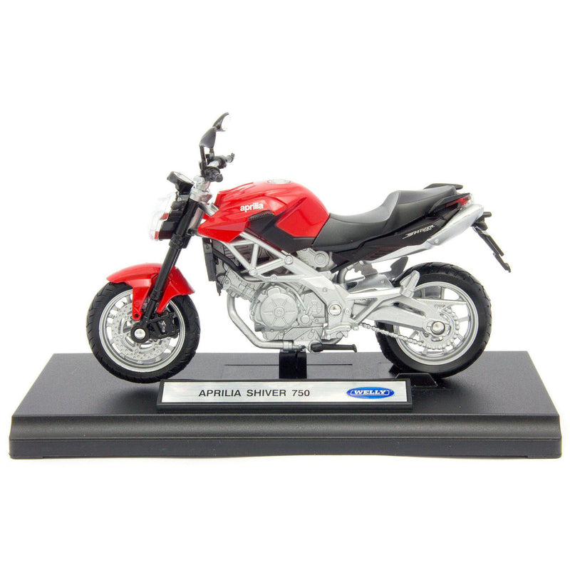 Aprilia Shiver 750 Diecast Model Motorcycle - 1:18 Scale-Welly-Diecast Model Centre