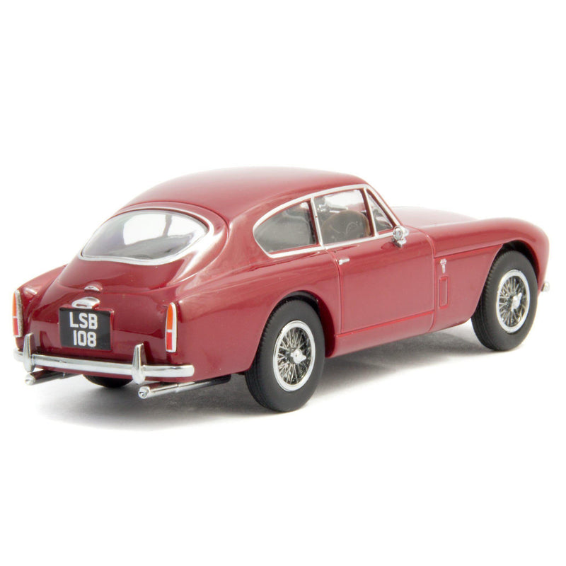Aston Martin DB2 MkIII Saloon Diecast Model Car Peony Red - 1:43 Scale-Oxford Diecast-Diecast Model Centre