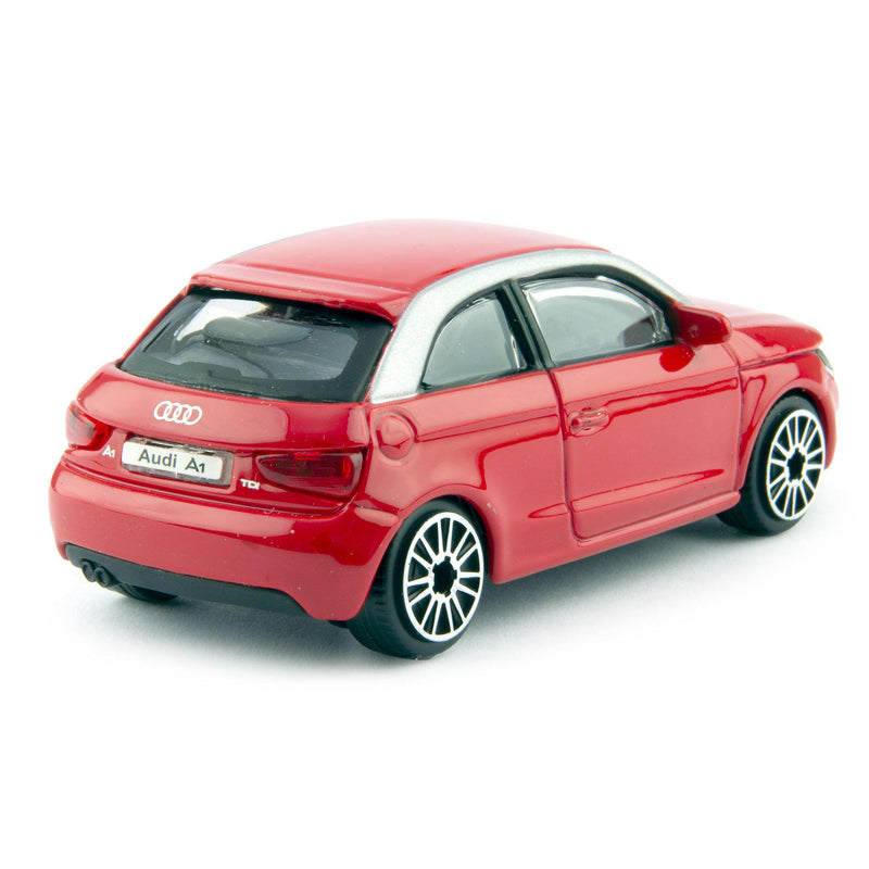 Audi A1 Diecast Toy Car 2010 red - 1:43 Scale-Bburago-Diecast Model Centre