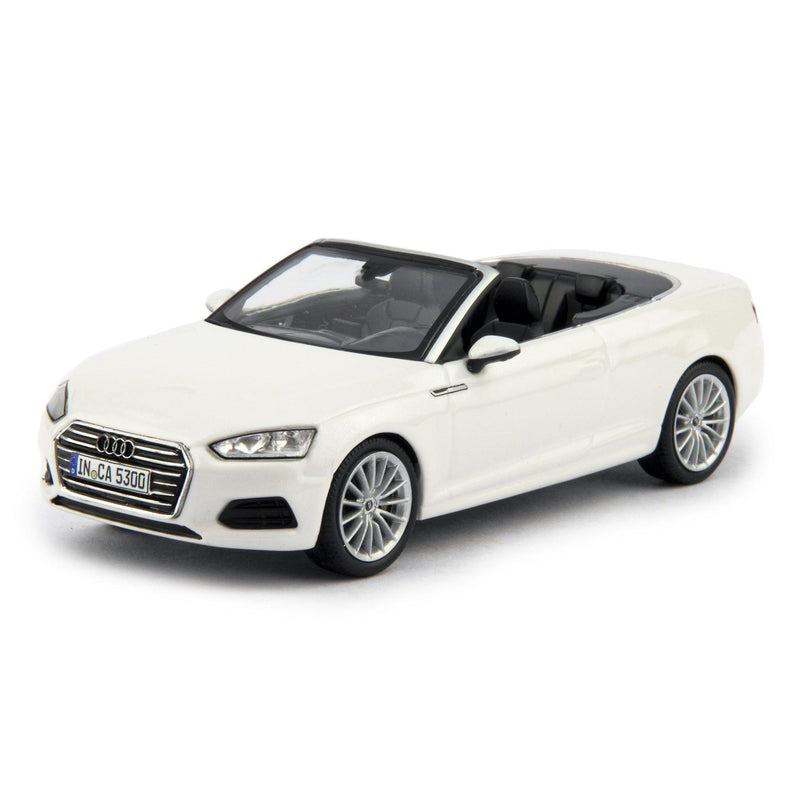 Audi A5 Cabriolet Diecast Model Car white - 1:43 scale-Spark-Diecast Model Centre