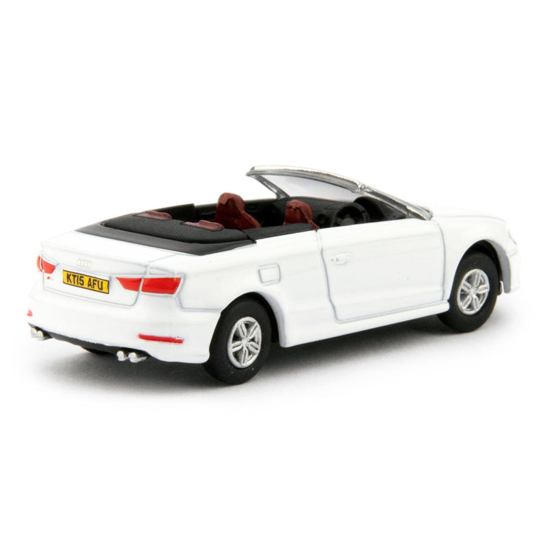 Audi S3 Cabriolet Diecast Model Car Glacier White - 1:76 Scale-Oxford Diecast-Diecast Model Centre