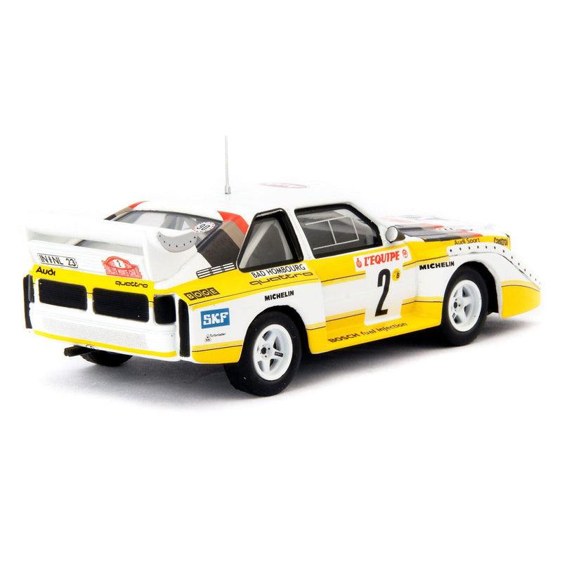 Audi Sport Quattro S1 Diecast Model Car (night spec.) Monte Carlo 1986 Rohrl/Geistdorfer - 1:43 Scale-Classic Model Replicars-Diecast Model Centre
