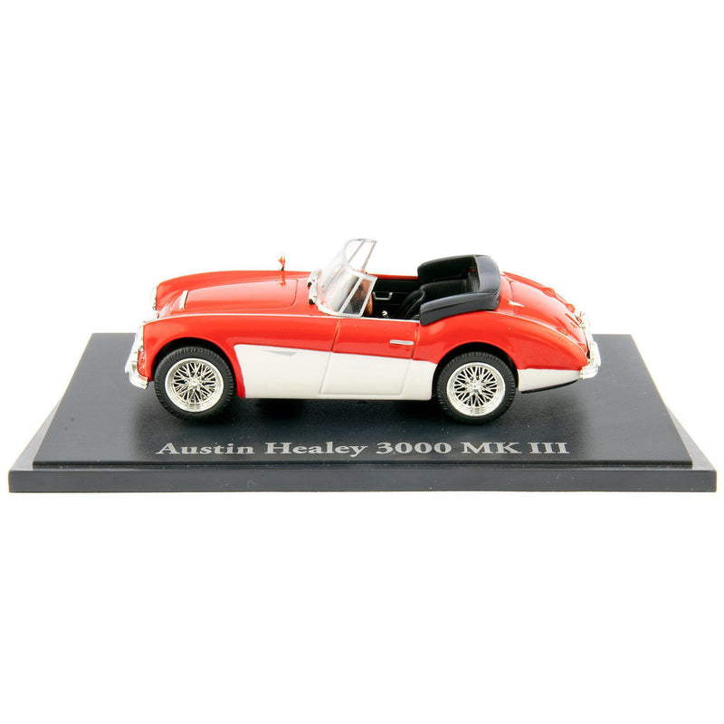 Austin Healey 3000 MkIII Diecast Model Car red/white - 1:43 Scale-Atlas Editions-Diecast Model Centre