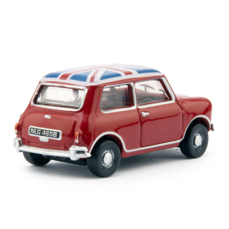 Austin Mini Diecast Model Car Tartan Red - 1:76 Scale-Oxford Diecast-Diecast Model Centre