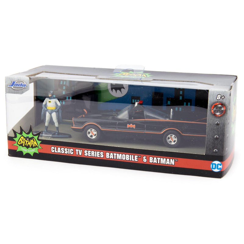Batmobile Diecast Model Car 1996 Classic TV Series + Batman Figure - 1:32 scale-Jada-Diecast Model Centre