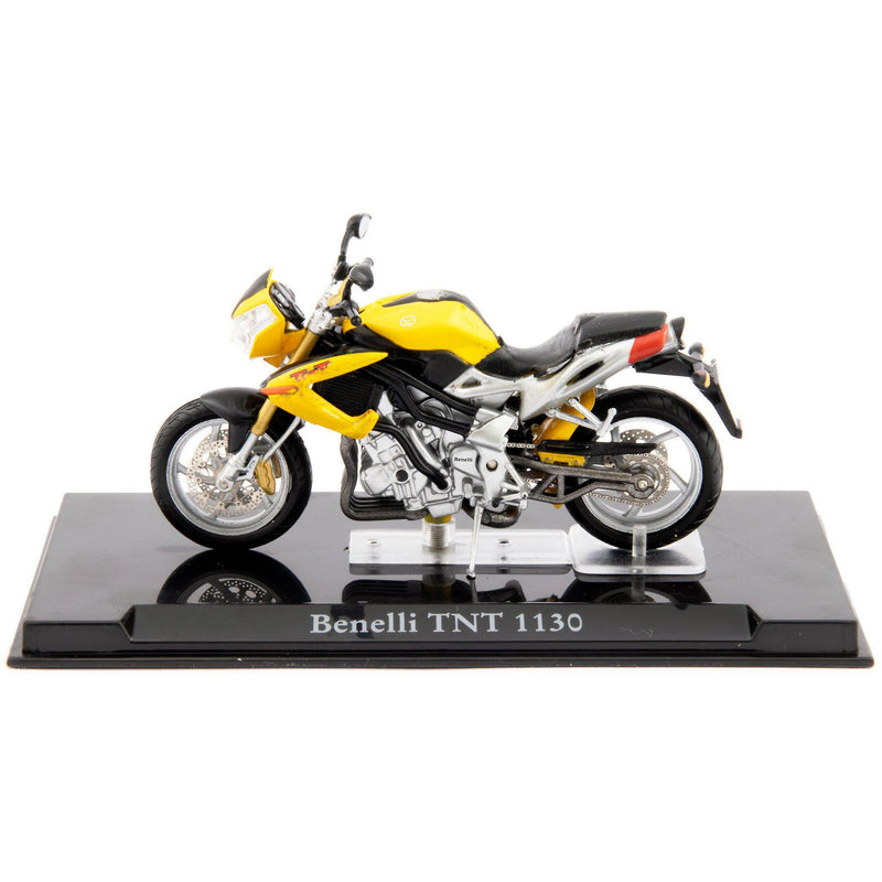 Benelli TNT 1130 Diecast Model Motorcycle yellow - 1:24 Scale-Atlas Editions-Diecast Model Centre