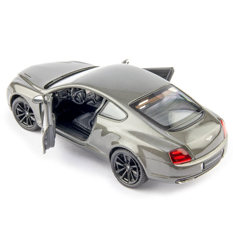 Bentley Continental Supersports Diecast Model Car grey - 1:24 Scale-Welly-Diecast Model Centre