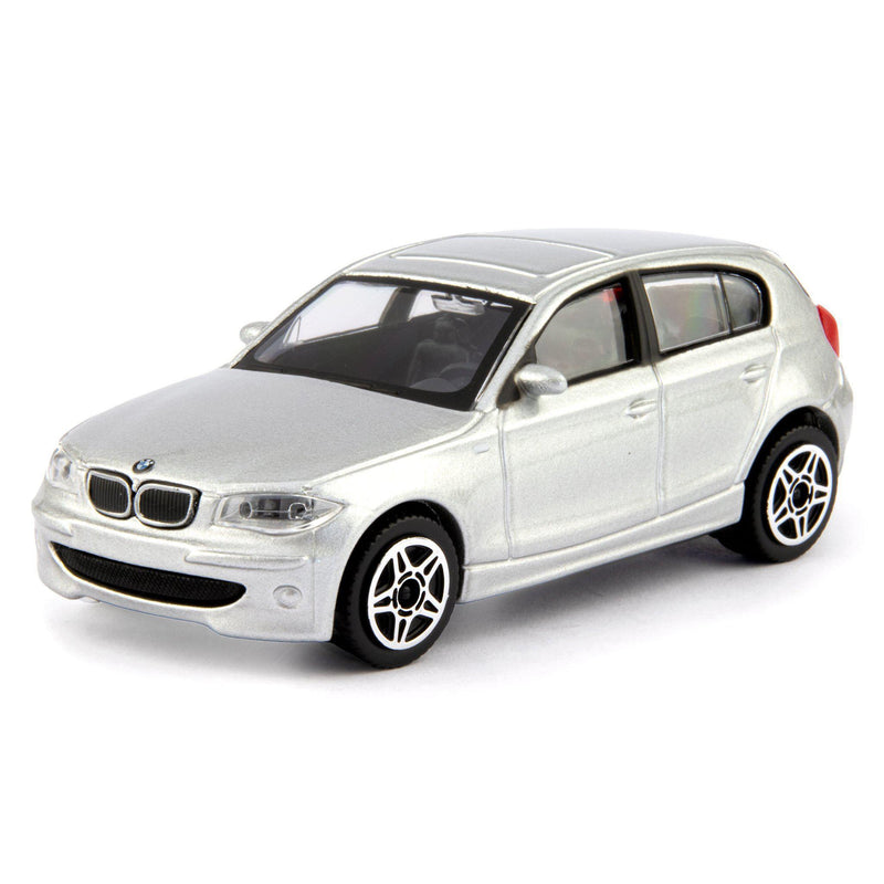 BMW 120d Diecast Toy Car 2009 silver - 1:43 Scale-Bburago-Diecast Model Centre