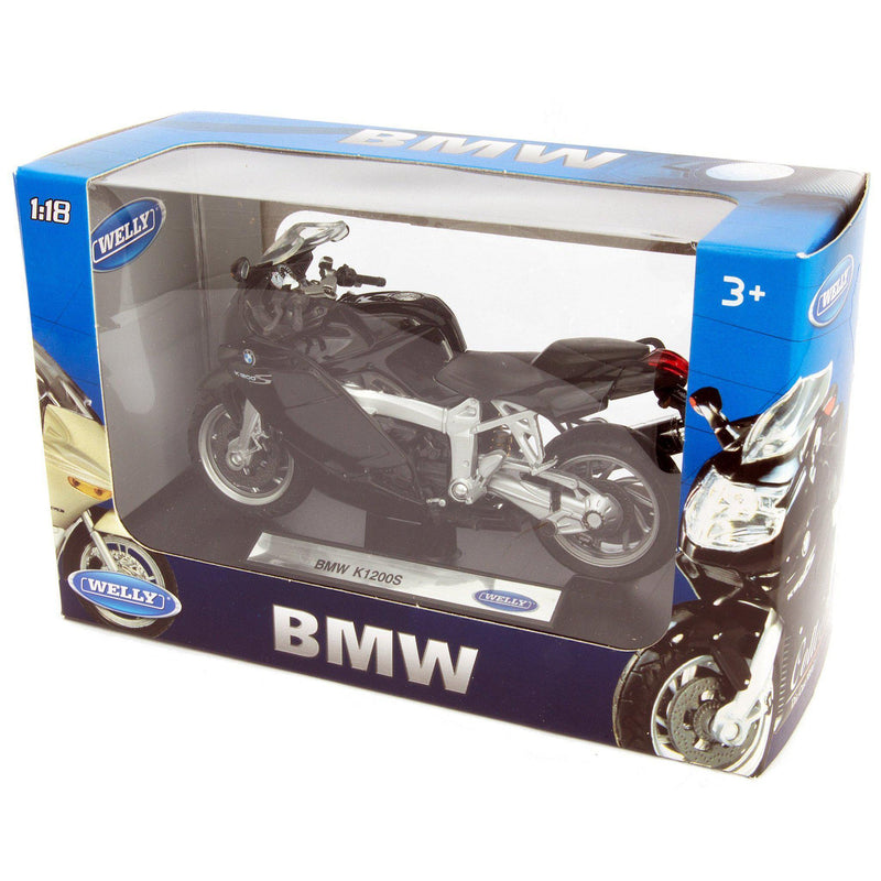 BMW K 1200 S Diecast Model Motorcycle - 1:18 Scale-Welly-Diecast Model Centre