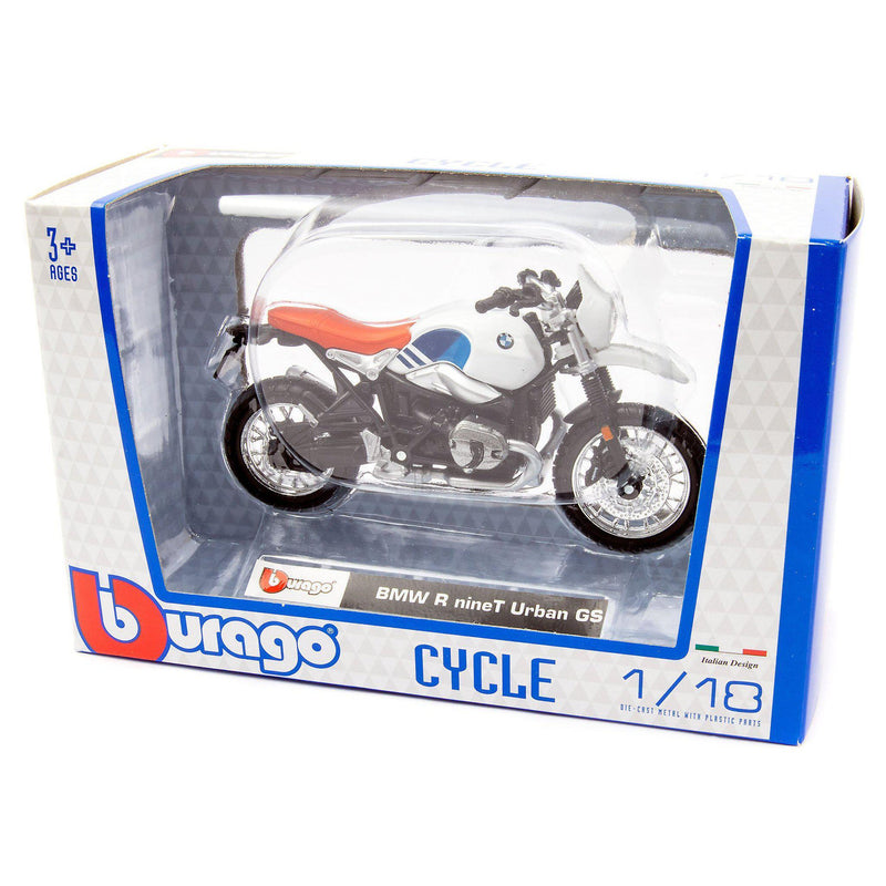 BMW R nineT Urban GS Diecast Model Motorcycle - 1:18 Scale-Bburago-Diecast Model Centre