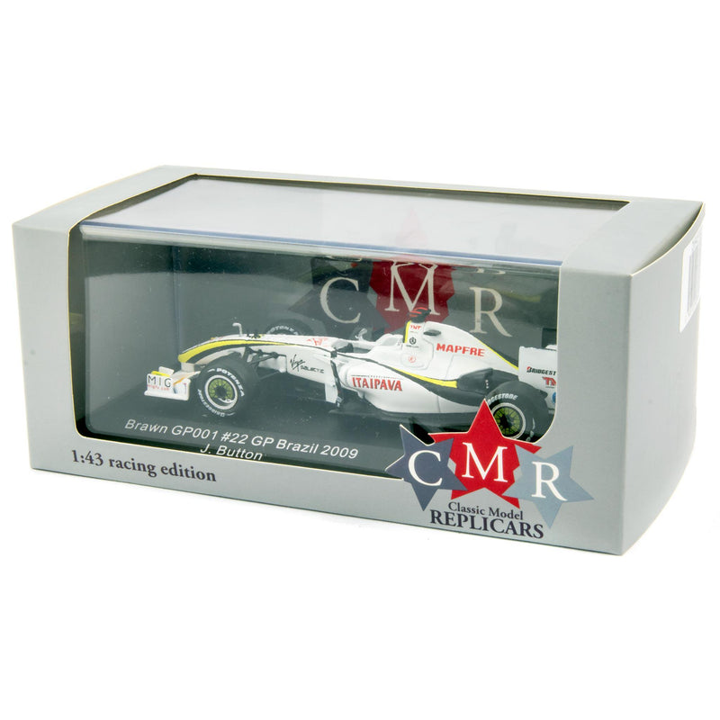 Brawn GP 001 Diecast Model Car F1 Brazil 2009 Button - 1:43 Scale-Classic Model Replicars-Diecast Model Centre