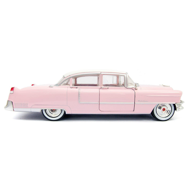 Cadillac Fleetwood Series 60 Diecast Model Car 1955 pink Elvis Presley - 1:24 Scale-GreenLight-Diecast Model Centre