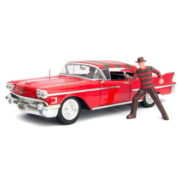 Cadillac Series 62 Diecast Model Car 1958 Freddy Krueger - 1:24 scale-Jada-Diecast Model Centre