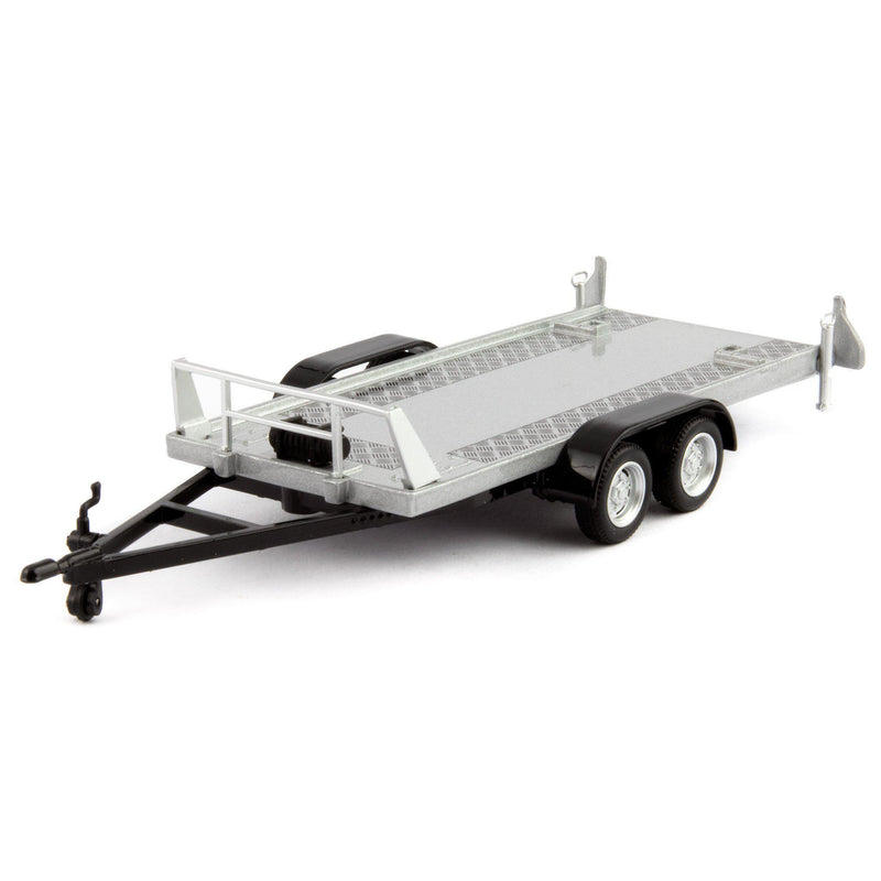 Car Twin-Axle Plastic Model Trailer - 1:43 Scale-Cararama-Diecast Model Centre