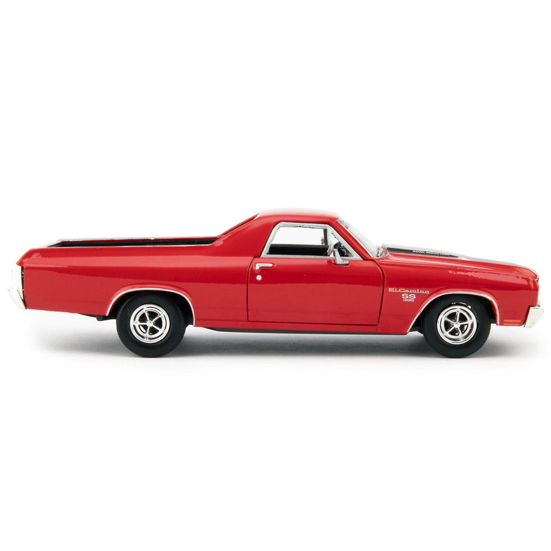 Chevrolet El Camino SS Diecast Model Pickup 1970 red - 1:24 Scale-Motormax-Diecast Model Centre