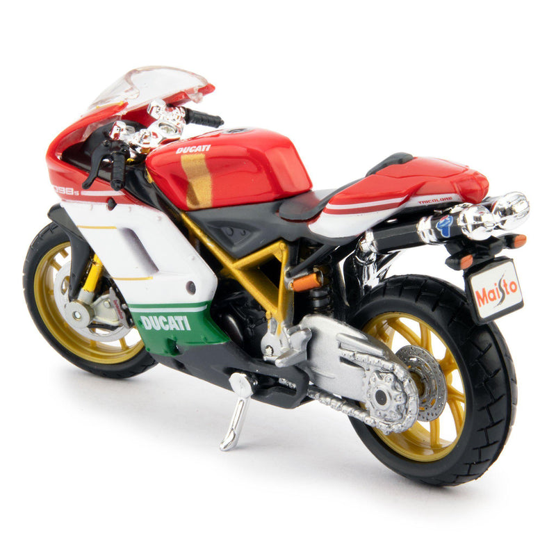 Ducati 1098 S Diecast Model Motorcycle red/white/green - 1:18 scale-Maisto-Diecast Model Centre