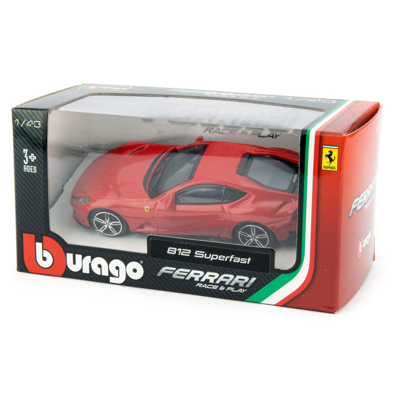 Ferrari 812 Superfast Diecast Toy Car red - 1:43 Scale-Bburago-Diecast Model Centre