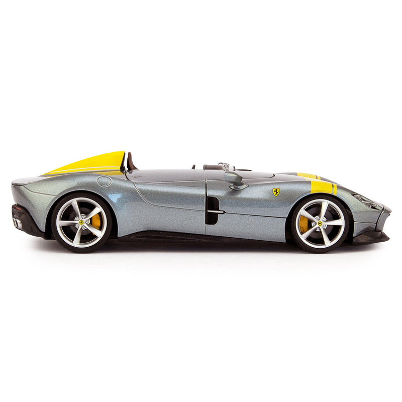 Ferrari Monza SP1 Diecast Model Car grey - 1:24 Scale-Bburago-Diecast Model Centre