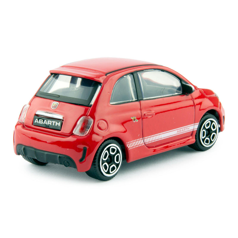 Fiat 500 Abarth Diecast Toy Car 2008 red - 1:43 Scale-Bburago-Diecast Model Centre