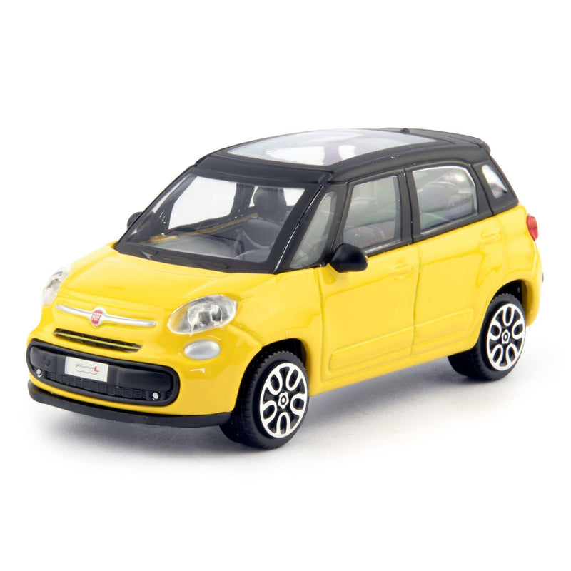 Fiat 500L Diecast Toy Car 2013 yellow - 1:43 Scale-Bburago-Diecast Model Centre