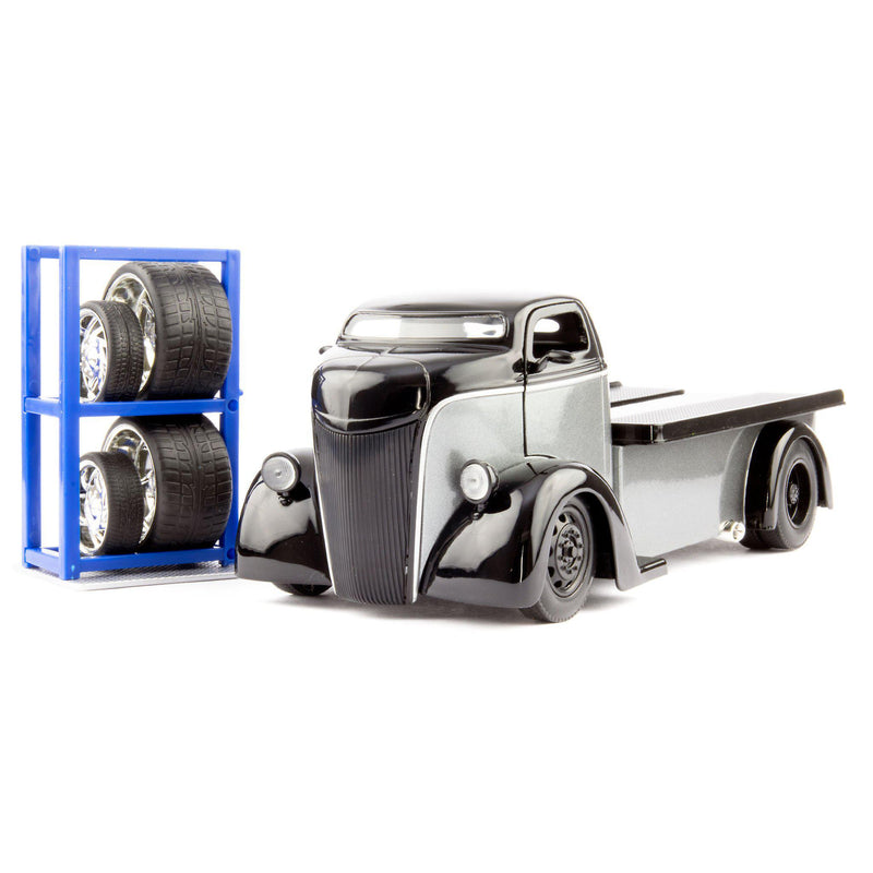 Ford COE Diecast Model Truck 1947 black/grey - 1:24 Scale-Jada-Diecast Model Centre