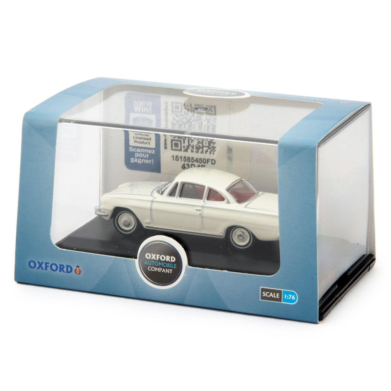 Ford Consul Capri Diecast Model Car Ermine White - 1:76 Scale-Oxford Diecast-Diecast Model Centre