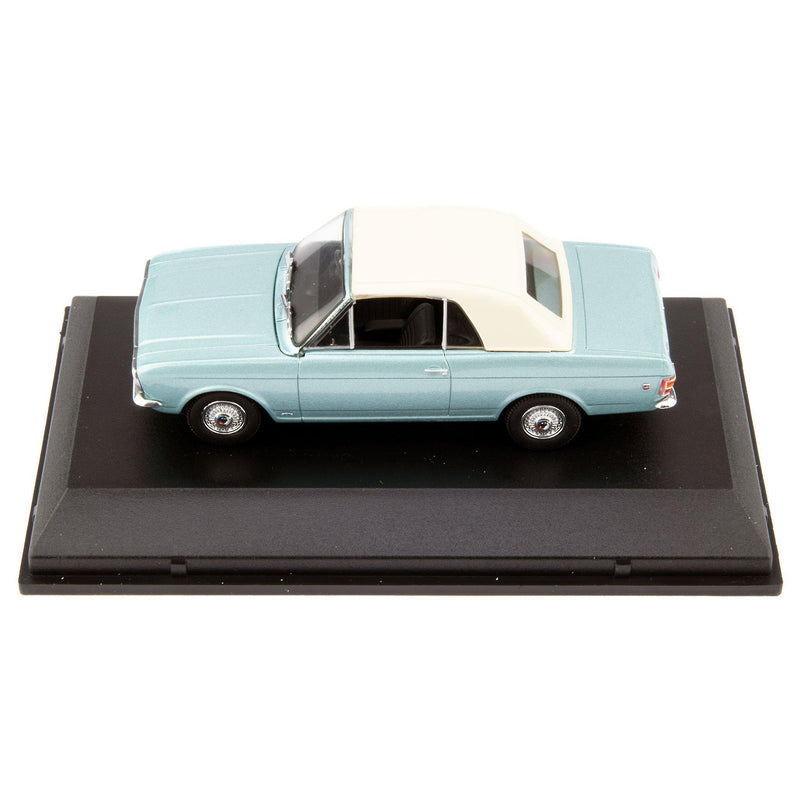 Ford Cortina Mk2 Crayford Convertible Diecast Model Car blue - 1:43 Scale-Oxford Diecast-Diecast Model Centre