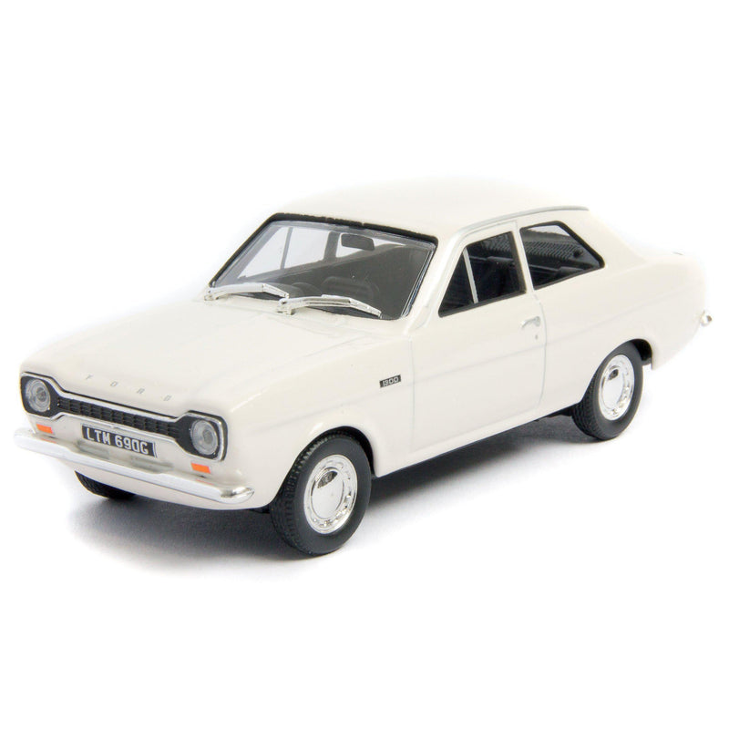 Ford Escort Mk1 Diecast Model Car white - 1:43 Scale-Cararama-Diecast Model Centre