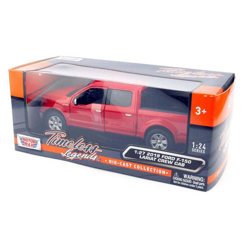 Ford F-150 Lariat Diecast Toy Pickup Truck 2019 red - 1:27 Scale-Motormax-Diecast Model Centre