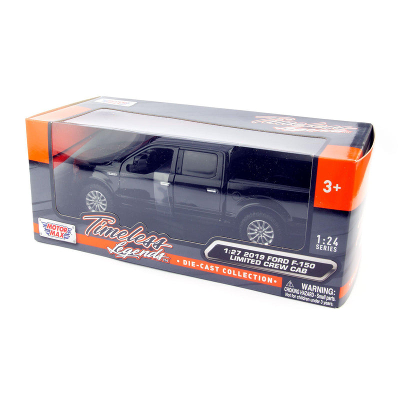 Ford F-150 Limited Diecast Toy Pickup Truck 2019 black - 1:27 Scale-Motormax-Diecast Model Centre