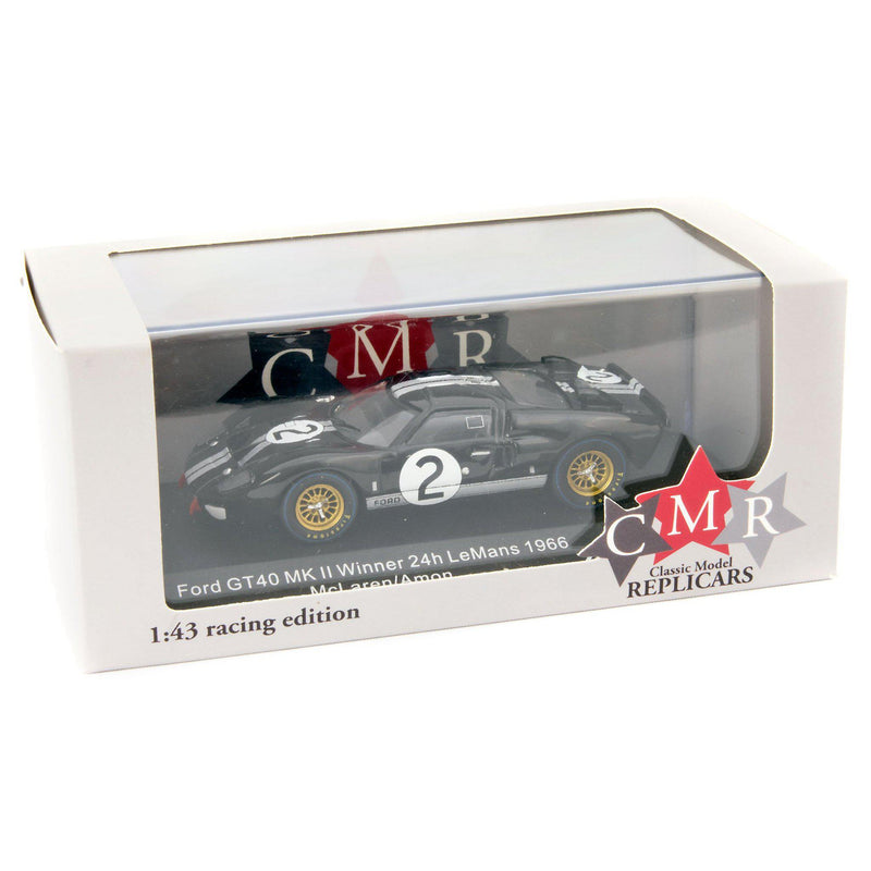 Ford GT40 MkII Diecast Model Car 24H Le Mans 1966 McLaren/Amon - 1:43 Scale-Classic Model Replicars-Diecast Model Centre