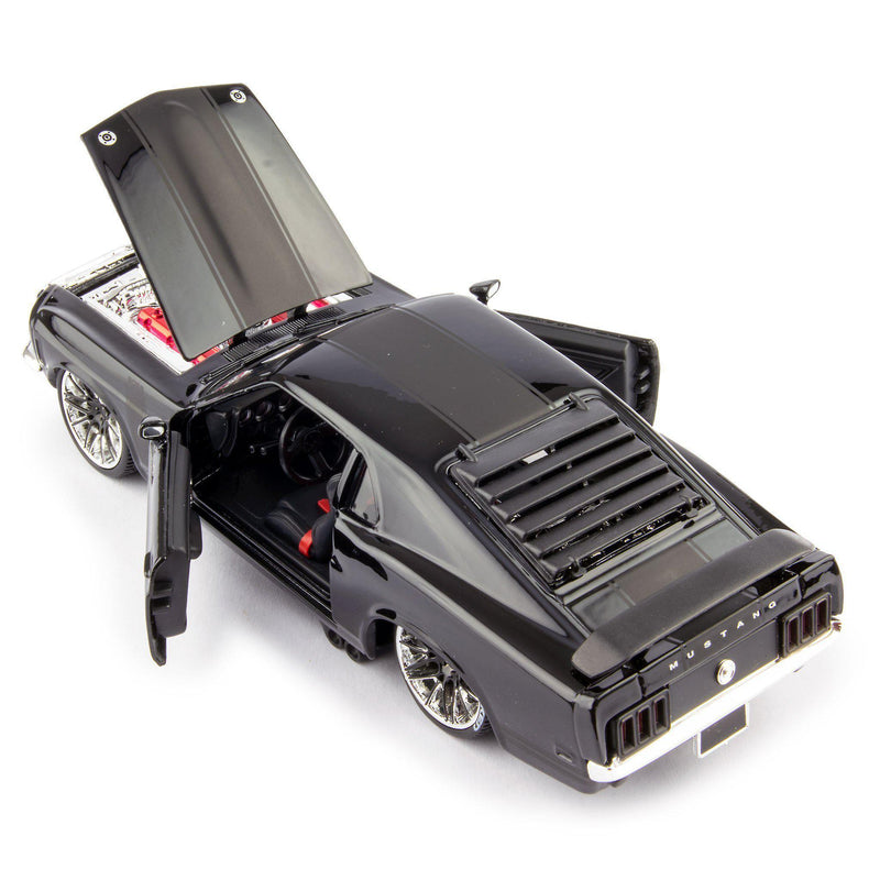 Ford Mustang Boss 302 Diecast Model Car 1974 black - 1:24 Scale-Maisto-Diecast Model Centre