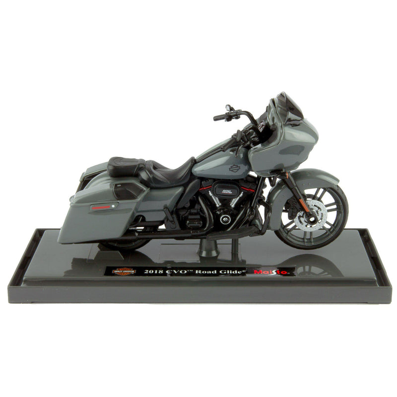 Harley-Davidson CVO Road Glide Diecast Model Motorcycle 2018 grey - 1:18 scale-Maisto-Diecast Model Centre