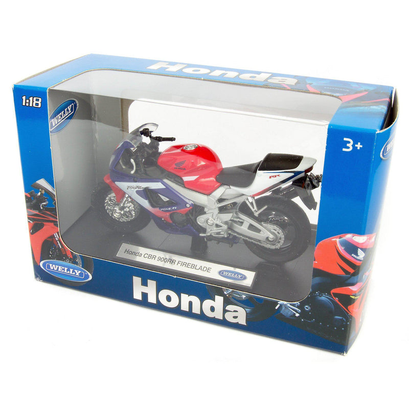 Honda CBR900RR Fireblade Diecast Model Motorcycle - 1:18 Scale-Welly-Diecast Model Centre