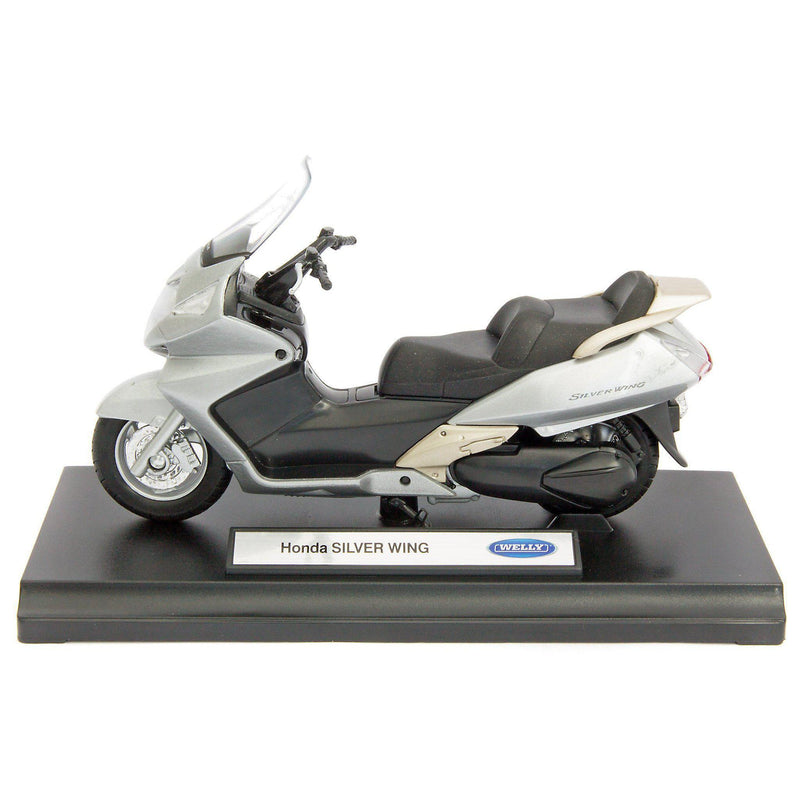 Honda Silver Wing Diecast Model Motorcycle - 1:18 Scale-Welly-Diecast Model Centre
