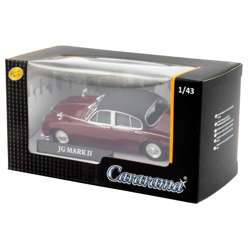 Jaguar Mk2 Diecast Model Car red - 1:43 Scale-Cararama-Diecast Model Centre