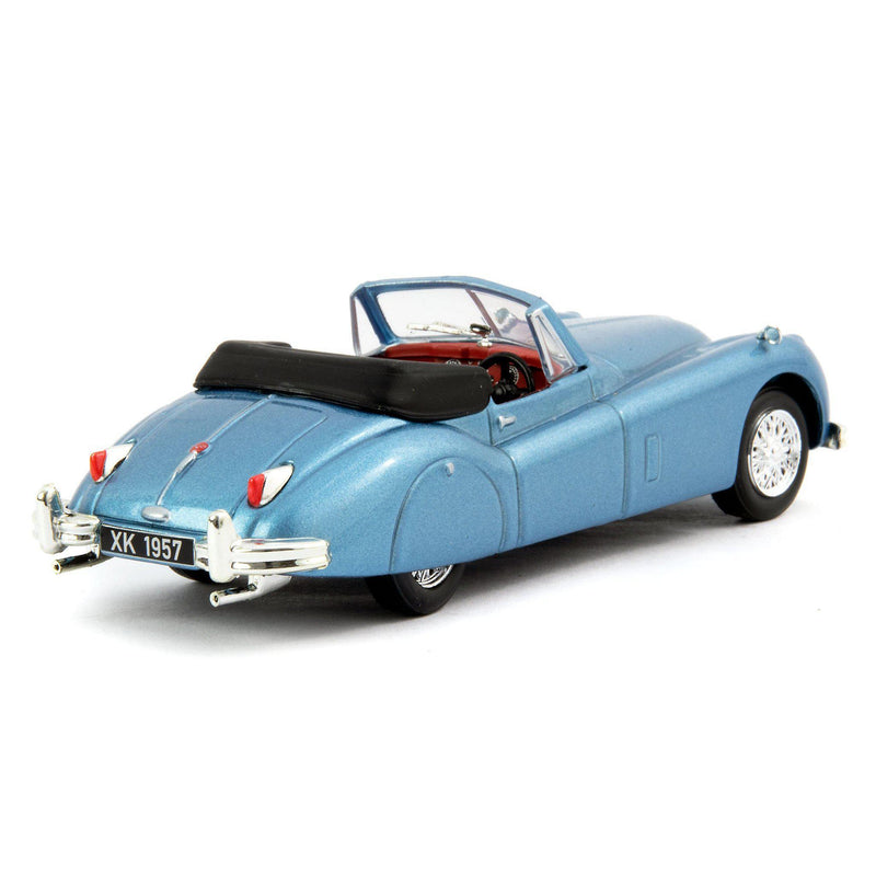 Jaguar XK140 Roadster Diecast Model Car 1957 light blue - 1:43 Scale-Atlas Editions-Diecast Model Centre
