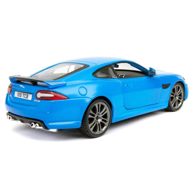 Jaguar XKR-S Diecast Model Car blue - 1:24 Scale-Bburago-Diecast Model Centre