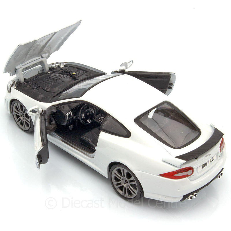 Jaguar XKR-S Diecast Model Car white - 1:24 Scale-Bburago-Diecast Model Centre