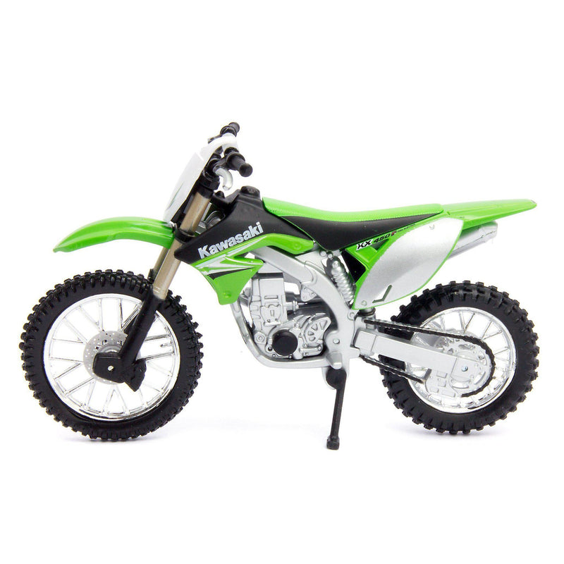 Kawasaki KX450F Diecast Model Motorcycle - 1:18 Scale-Bburago-Diecast Model Centre