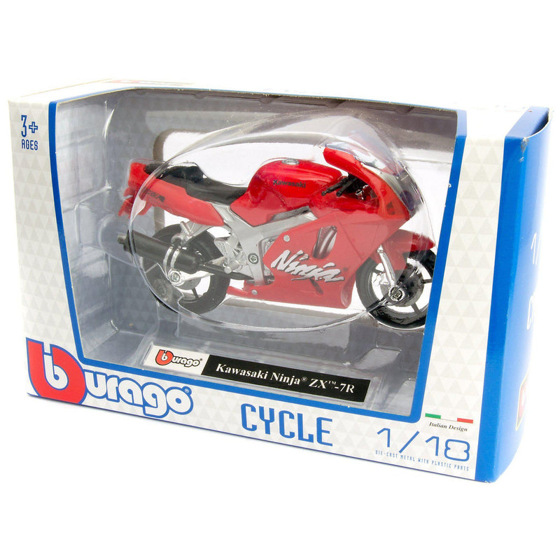 Kawasaki Ninja ZX-7R Diecast Model Motorcycle - 1:18 Scale-Bburago-Diecast Model Centre