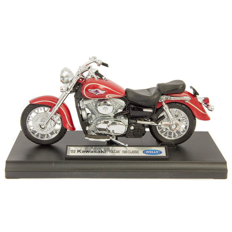 Kawasaki Vulcan 1500 Classic Diecast Model Motorcycle 2002 - 1:18 Scale-Welly-Diecast Model Centre