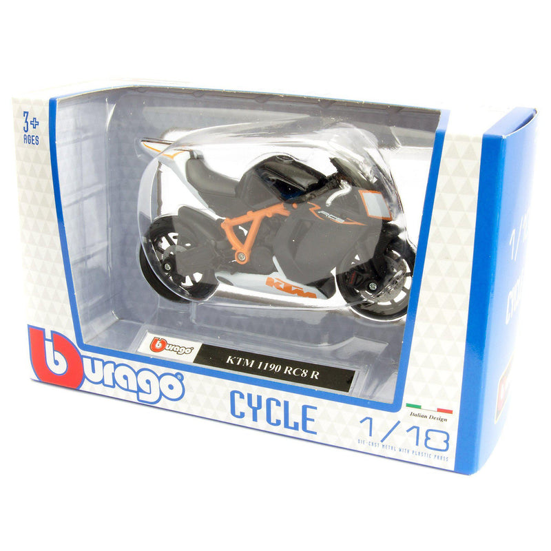 KTM 1190 RC8 R Diecast Model Motorcycle - 1:18 Scale-Bburago-Diecast Model Centre