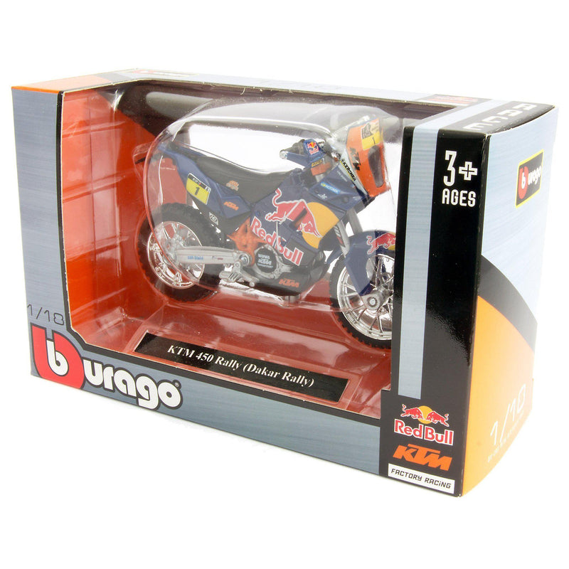 KTM 450 Rally Diecast Model Motorcycle Dakar 2013 Depres - 1:18 scale-Bburago-Diecast Model Centre