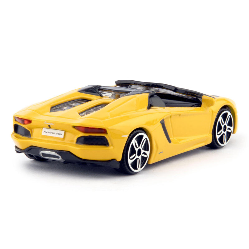 Lamborghini Aventador Roadster Diecast Toy Car yellow - 1:43 Scale-Bburago-Diecast Model Centre