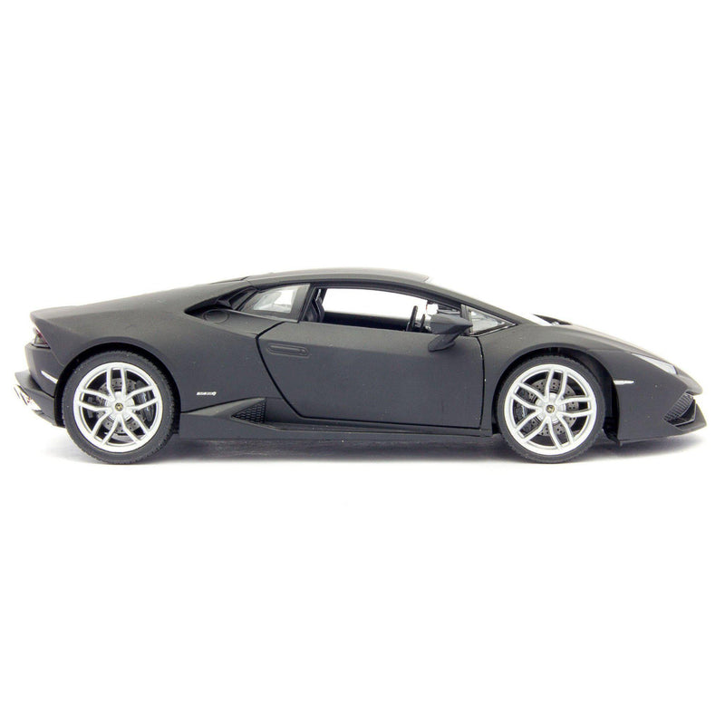 Lamborghini Huracan LP 610-4 Diecast Model Car black - 1:24 Scale-Welly-Diecast Model Centre
