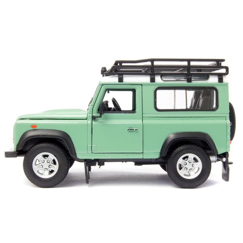 Land Rover Defender 90 Diecast Model Car with snorkel green - 1:24 Scale-Welly-Diecast Model Centre